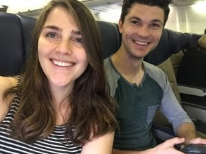Young Nick and Michelle on the way to Mexico