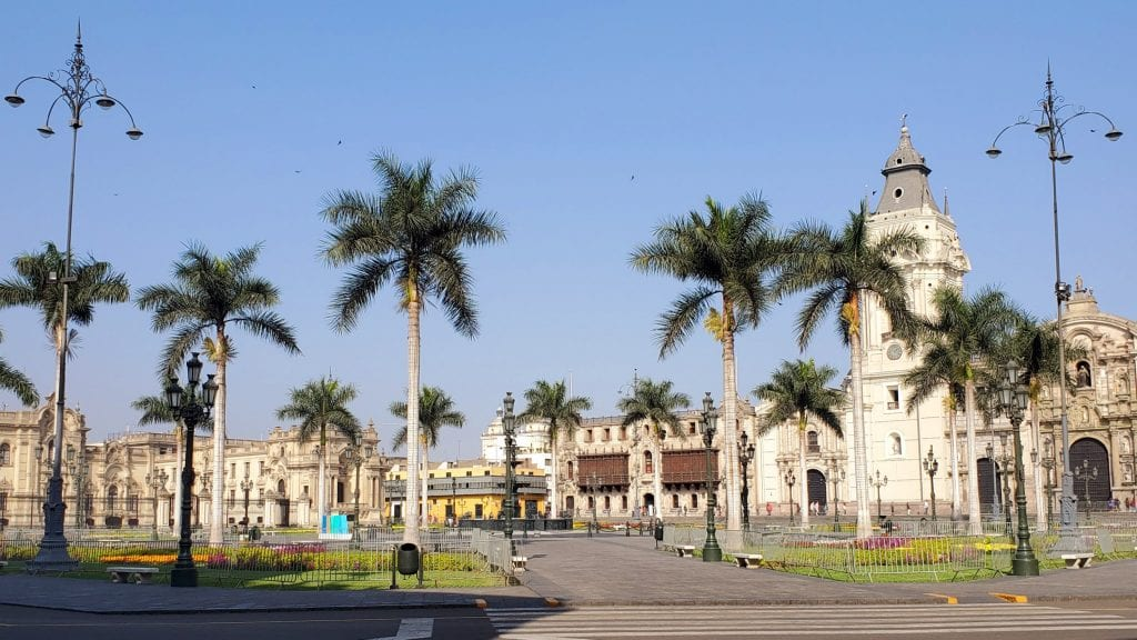 Plaza de Armas, the main square of Lima, Peru
