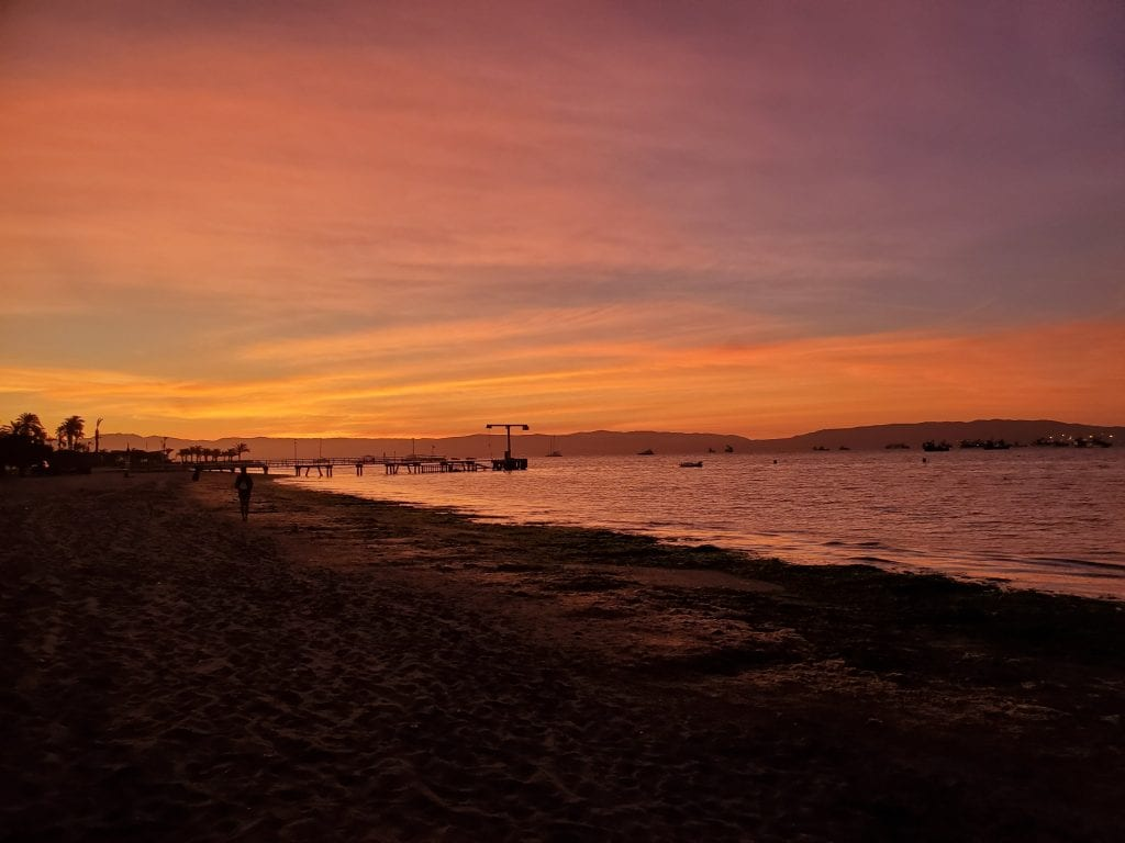 Paracas Colorful Sunset