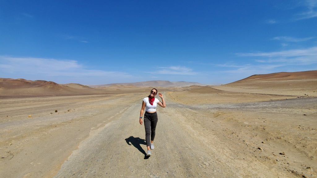 Woman Walking Paracas National Reserve