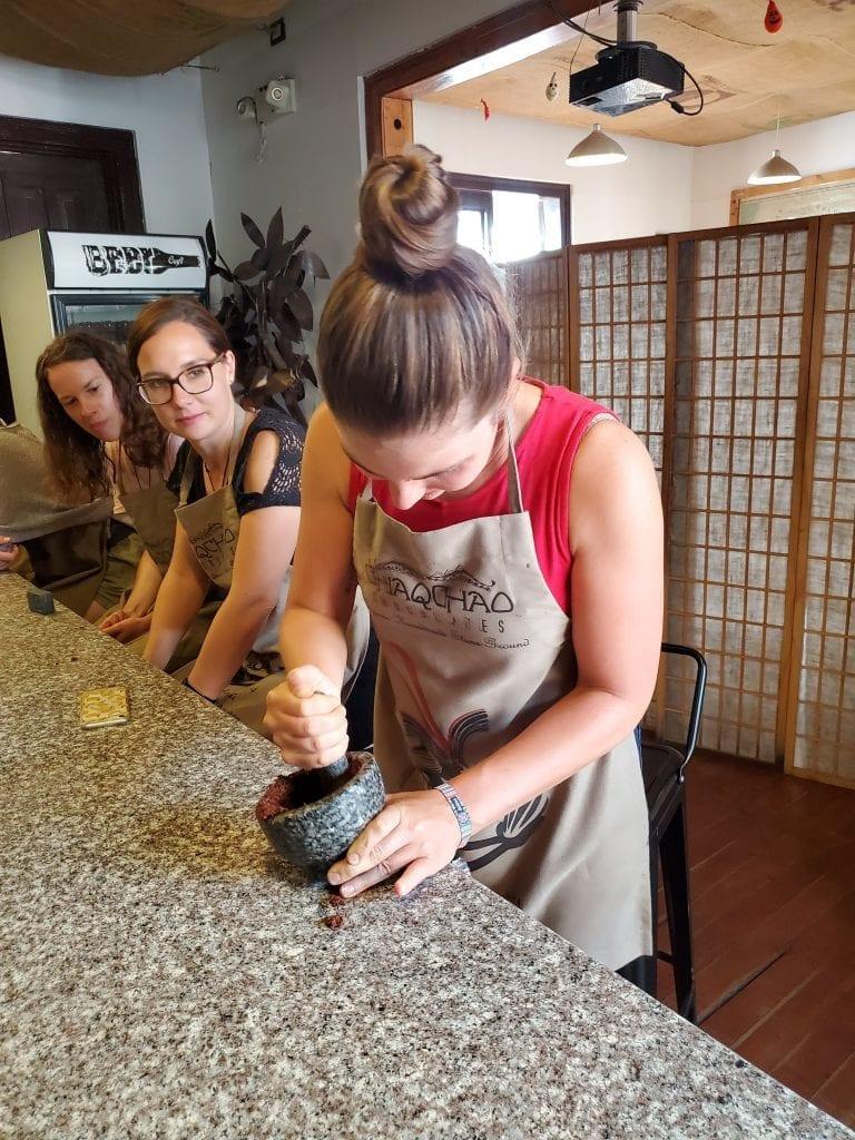 Chaqchao Chocolate Making