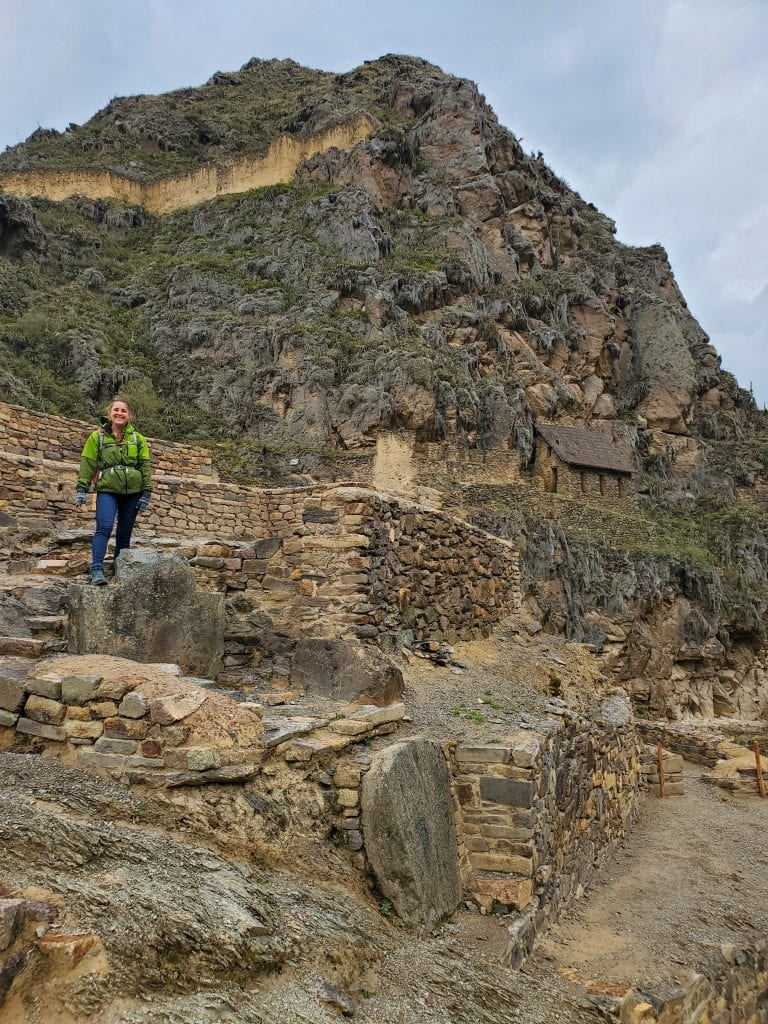 Sacred Valley Peru - Ollantaytambo Ruins Female Traveler