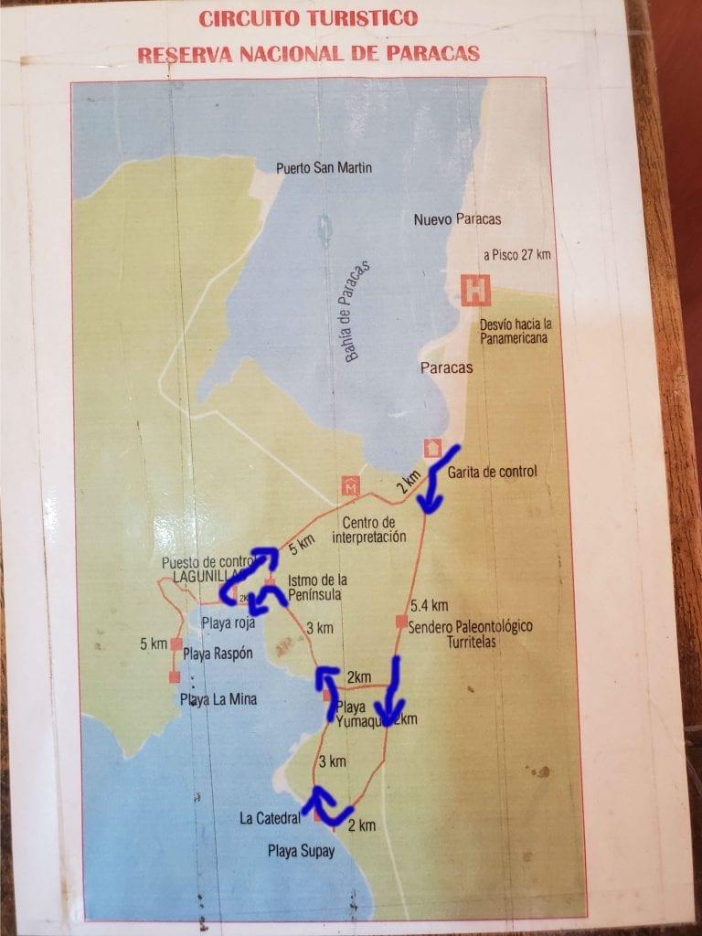 Paracas National Reserve Map