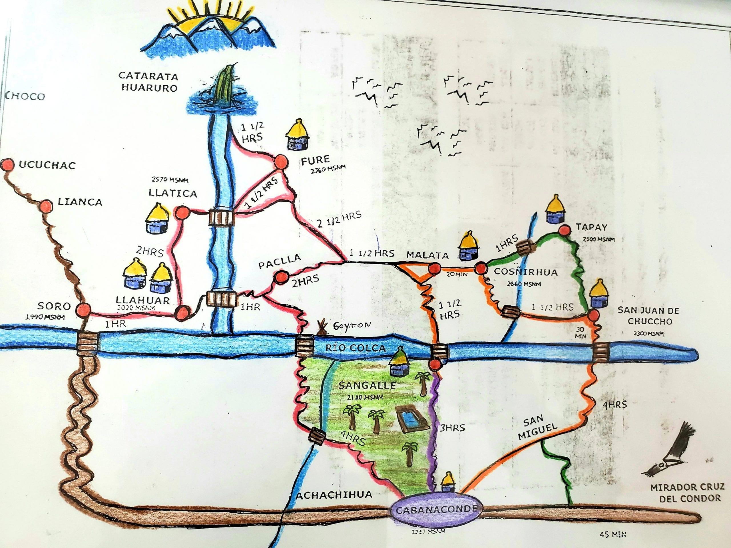 Colca Canyon Map