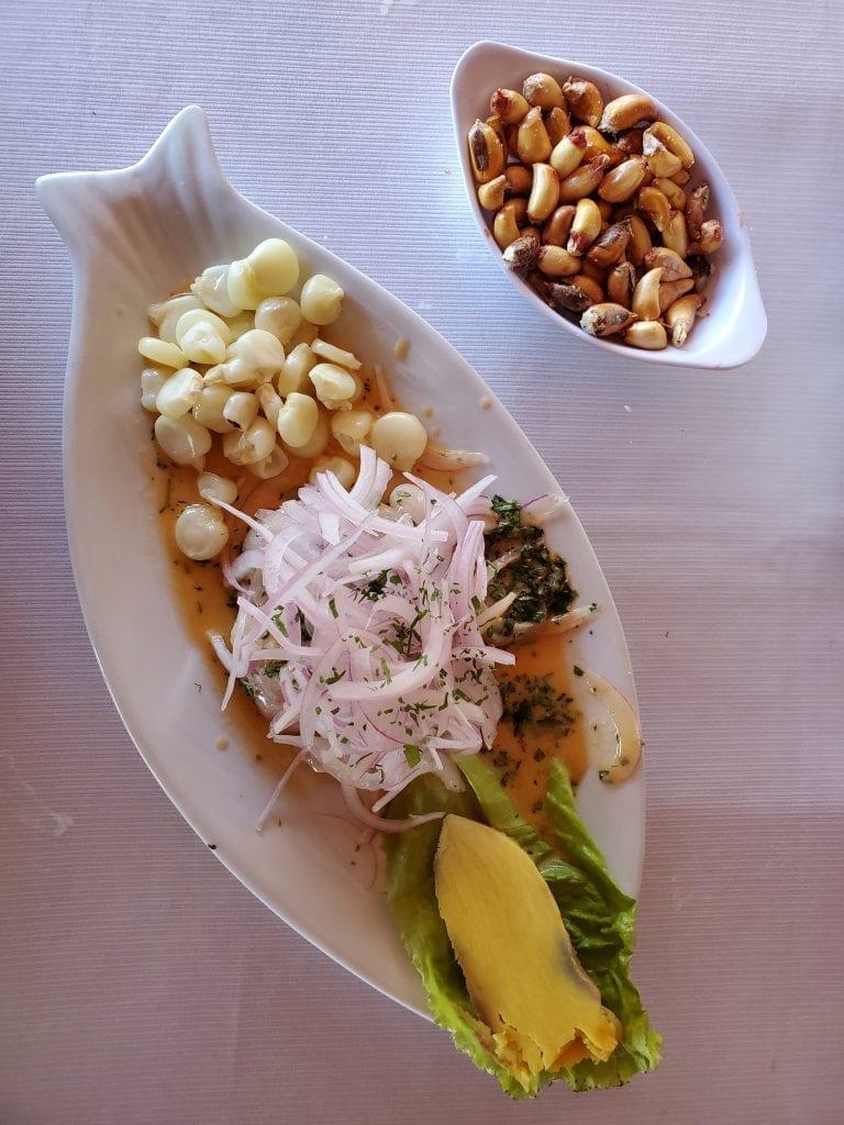 Paracas Peru - Food Ceviche