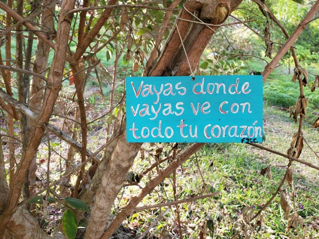 Cerro Nubes Hike Sign