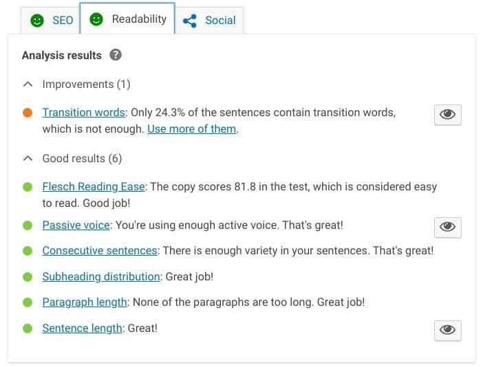 yoast readability checklist