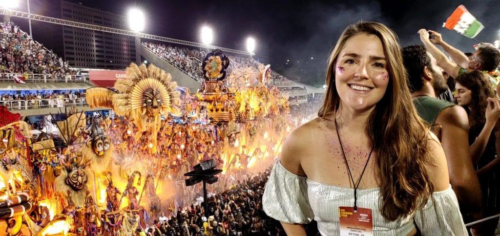 Michelle at Rio Carnival Parade