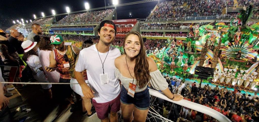 World famous Sambodromo during Carnival in Rio de Janeiro