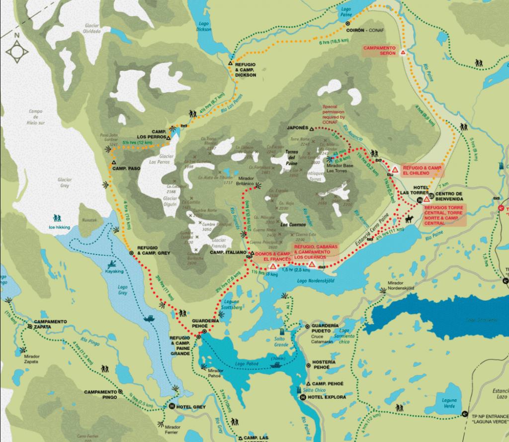 W Trek Map