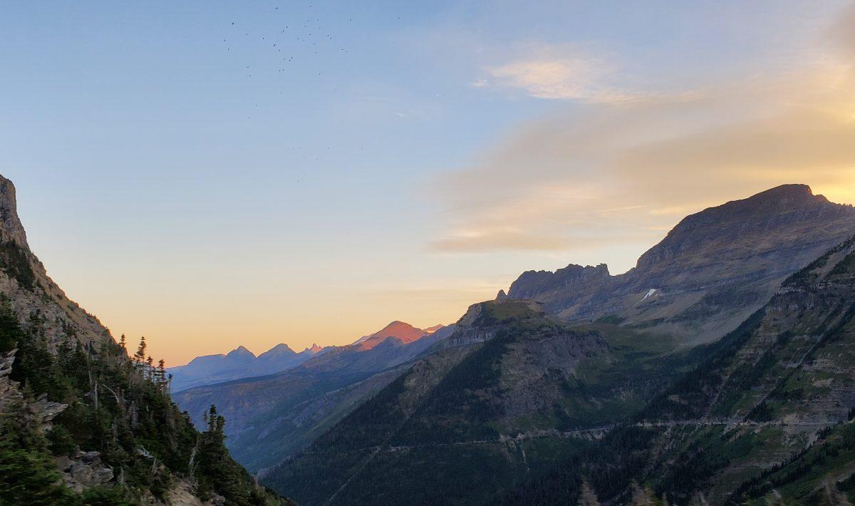 west glacier national park highline trail